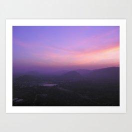 Sunrise at Pushkar, India Art Print