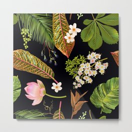 Dark Tropical Forest Metal Print