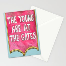 The Young are at The Gates Stationery Cards
