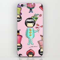 girly iPhone & iPod Skins featuring Girly by Ho Man Law