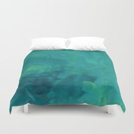 Watercolor green and blue Duvet Cover