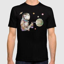 space graffiti T-shirt