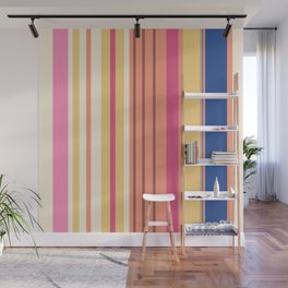 Stripes in fresh color for a good mood Wall Mural