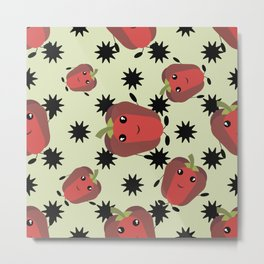 Cute red pepper Metal Print