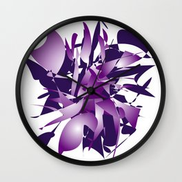Violet abstraction Wall Clock