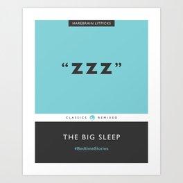 ZZZ - The Big Sleep (Aqua Blue) Art Print