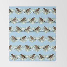 Sparrows Throw Blanket