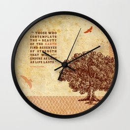 Strength Beautiful Earth Rustic Birds Wall Clock