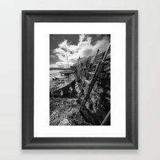 Estuary Steps Framed Art Print