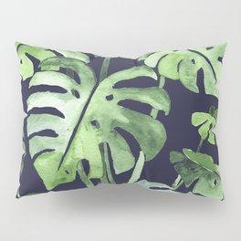 Delicate Monstera Blue #society6 Pillow Sham