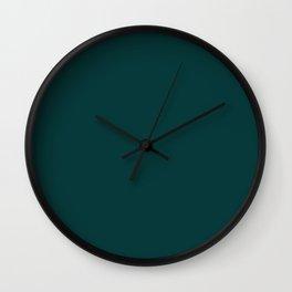 Palette . Dark blue-green Wall Clock