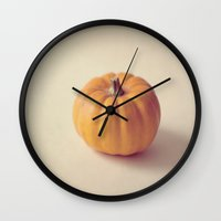 pumpkin Wall Clocks featuring Pumpkin by secretgardenphotography [Nicola]