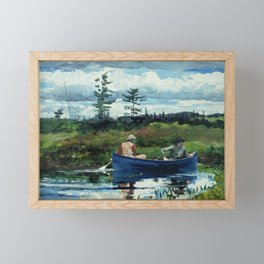 Winslow Homer - The Blue Boat, 1892 Framed Mini Art Print