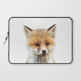 Baby Fox, Baby Animals Art Print By Synplus Laptop Sleeve