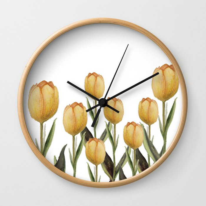 Tulip watercolor  Wall Clock