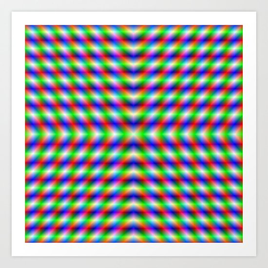 Neon X Art Print