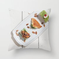 arab Throw Pillows featuring Arab Delights by visualspectrum