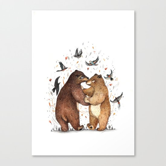 Bear Dance Canvas Print