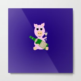 Happy New Year 2019 Year Of The Pig Gift Metal Print