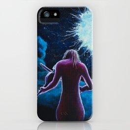 Blue Viola iPhone Case