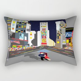 Lovers at Times Square Rectangular Pillow