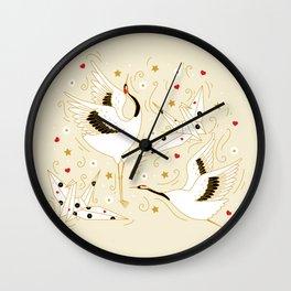 Origami Crane Metamorphosis (Cream) Wall Clock