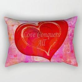 Love Conquers All Rectangular Pillow