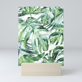 Tropical Palm Leaves Mini Art Print
