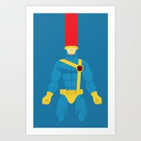 cyclops Art Prints featuring Cyclops by gallant designs