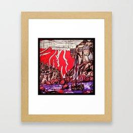 Castle Ribbons Framed Art Print