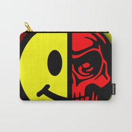 Smiley Face Skull Yellow Red Shadow Carry-All Pouch