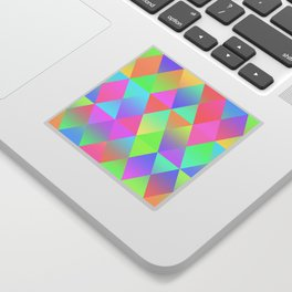 Colorful Geometric Pattern Prism Holographic Foil Triangle Texture Sticker