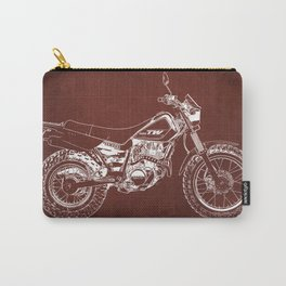 2018 Yamaha TW200 blueprint, gift for men, motorcycle,garage decoration Carry-All Pouch