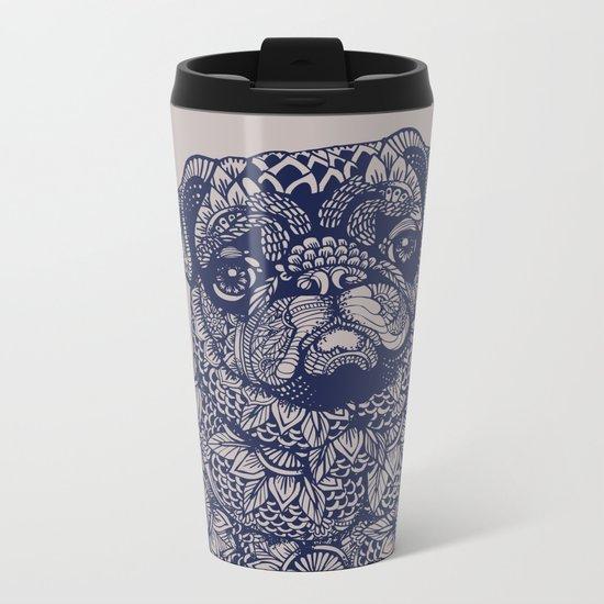MANDALA OF PUG Metal Travel Mug