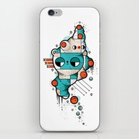 muscle iPhone & iPod Skins featuring Muscle cat by Randyotter