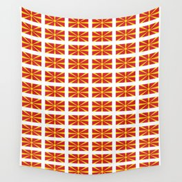 Flag of Macedonia 2 - Macedonian,skopje,Bitola,Kumanovo,Prilep,Balkan,Alexander the great,Karagoz Wall Tapestry