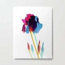 Glitches Iris Metal Print