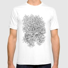 Shattered Faces Mens Fitted Tee White MEDIUM
