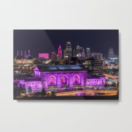 Union Station at Night Metal Print