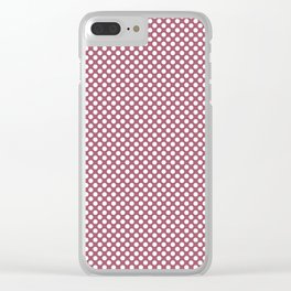 Rose Wine and White Polka Dots Clear iPhone Case