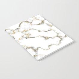 Gold gray white scandinavian marble Notebook