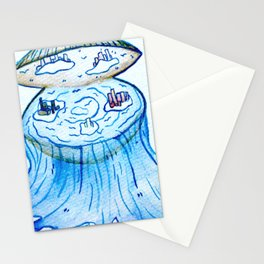 Paper Scrolls (5) Clam  Stationery Cards