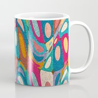 psychedelic Mugs featuring Psychedelic by Helene Michau