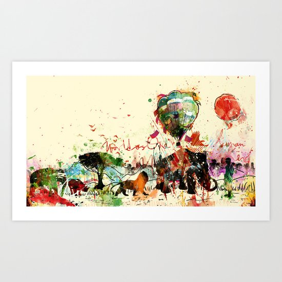 World as One : Human Kind Art Print