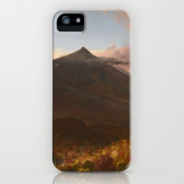 View of Schroon Mountain, Essex County, New York, After a Storm by Thomas Cole iPhone Case