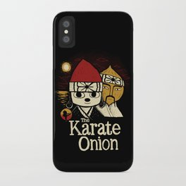 the karate onion iPhone Case