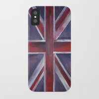 british flag iPhone & iPod Cases featuring British by Magdalena Hristova