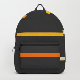 Abstract Minimal Retro Stripes Ashtanga Backpack