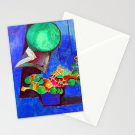 Henri Matisse Flowers and Ceramic Plate Stationery Cards
