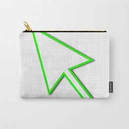 Cursor Arrow Mouse Green Line Carry-All Pouch